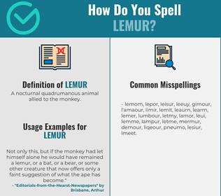 Correct spelling for lemur