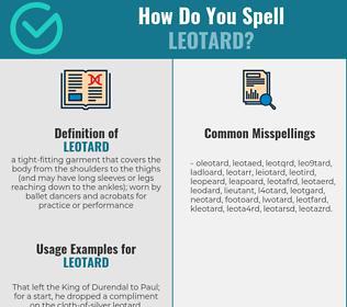 Correct spelling for leotard