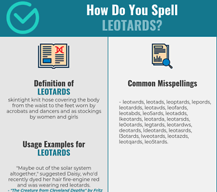 Correct spelling for leotards