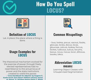 Correct spelling for locus