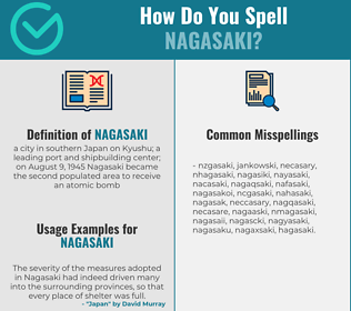 Correct spelling for nagasaki