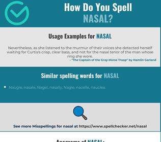 Correct spelling for nasal