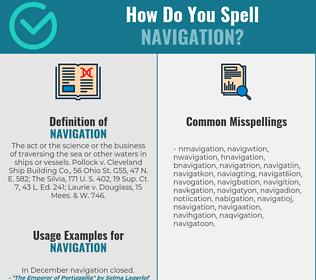 Correct spelling for navigation