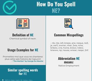 Correct spelling for ne