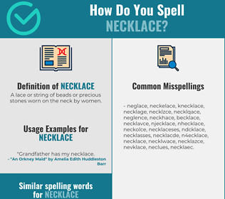 Correct spelling for necklace