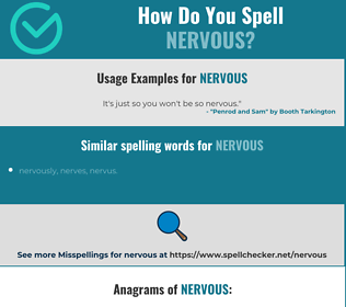 Correct spelling for nervous