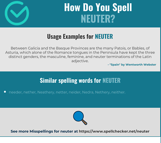 Correct spelling for neuter