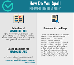 Correct spelling for newfoundland