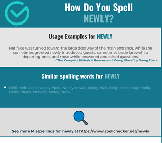 Correct spelling for newly