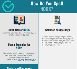 Correct spelling for nook