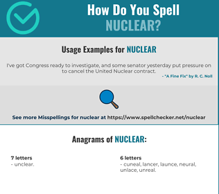 Correct spelling for nuclear