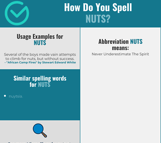 Correct spelling for nuts