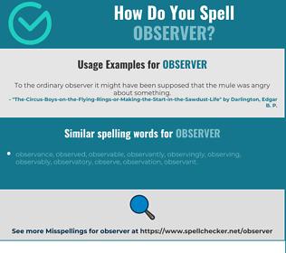Correct spelling for observer