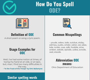 Correct spelling for ode