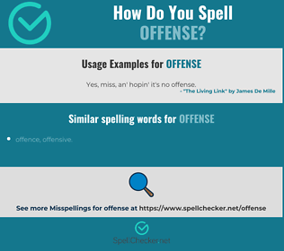 Correct spelling for offense