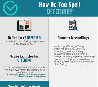 Correct spelling for offering