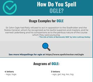 Correct spelling for ogle