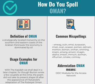 Correct spelling for oman
