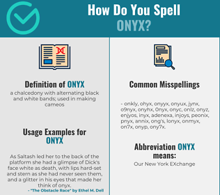Correct spelling for onyx