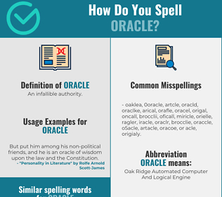 Correct spelling for oracle