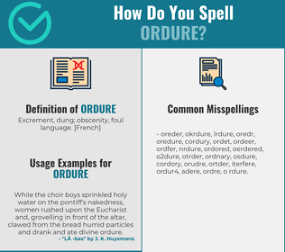 Correct spelling for ordure