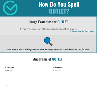 Correct spelling for outlet