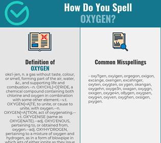 How Do You Spell Oxygen >> Correct Spelling For Oxygen Infographic Spellchecker Net