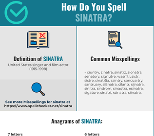 Correct spelling for sinatra