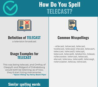 Correct spelling for telecast