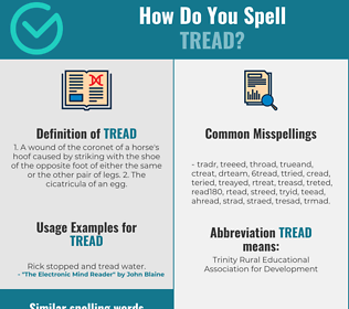 Correct spelling for tread