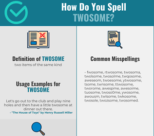 Correct spelling for twosome