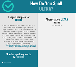 Correct spelling for ultra