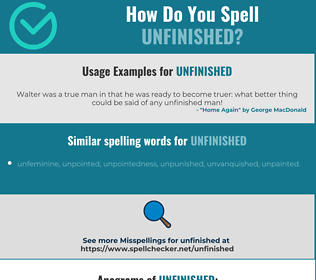 Correct spelling for unfinished