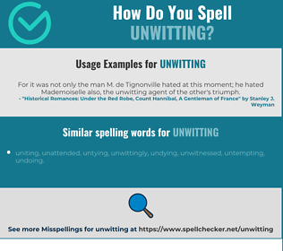 Correct spelling for unwitting