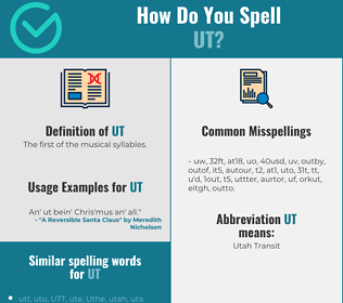 Correct spelling for ut