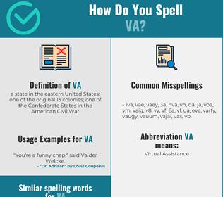Correct spelling for va