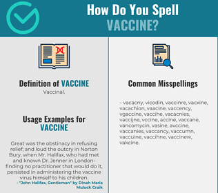 Correct spelling for vaccine