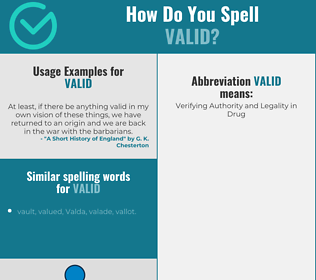 Correct spelling for valid