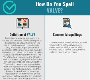 Correct spelling for valve