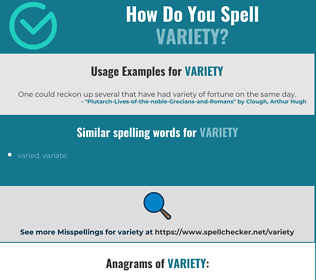 Correct spelling for variety