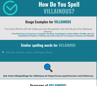 Correct spelling for villainous