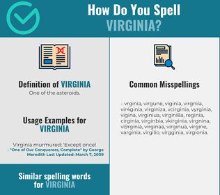 Correct spelling for virginia