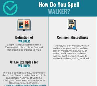 Correct spelling for walker