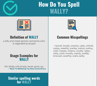 Correct spelling for wally