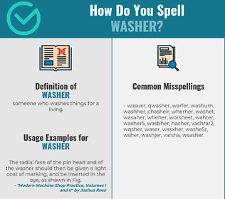 Correct spelling for washer