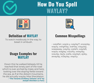Correct spelling for waylay