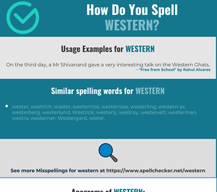 Correct spelling for western