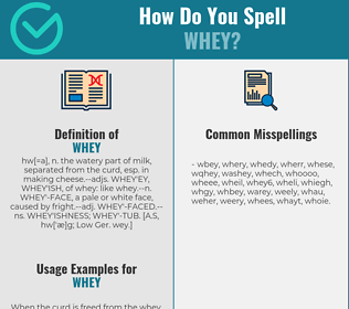 Correct spelling for whey