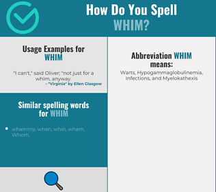 Correct spelling for whim