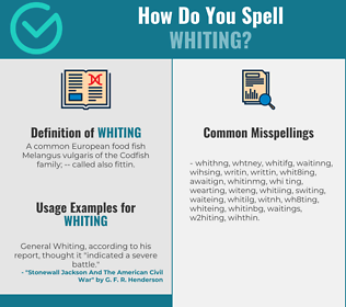 Correct spelling for whiting